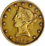 1854-O Liberty Head Eagle. Winter-1. Small Date. EF-40 (PCGS).