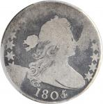 1805/4 Draped Bust Half Dollar. O-103b, T-11. Rarity-6. Good-4 (PCGS).