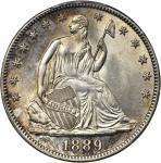 1889 Liberty Seated Half Dollar. MS-64 (PCGS). CAC.