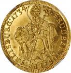 AUSTRIA. Salzburg. Ducat, 1734. Leopold Anton Eleutherius von Firmian. NGC MS-64.
