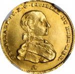 ITALY. Naples & Sicily. 4 Ducati, 1763/2-IA CCR. Naples Mint. Ferdinand IV. NGC MS-64.