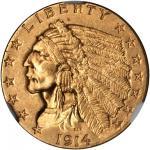 1914 Indian Quarter Eagle. MS-62 (NGC).