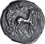 SICILY. Messana. AR Tetradrachm (16.74 gms), ca. 455-451 B.C.