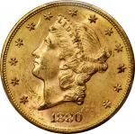 1880-S Liberty Head Double Eagle. MS-61 (PCGS). CAC.