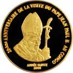 CONGO. Democratic Republic. 20 Francs, 2000. PCGS PROOF-65 Deep Cameo.