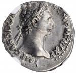 DOMITIAN, A.D. 81-96. AR Denarius (3.57 gms), Rome Mint, A.D. 95-96. NGC AU, Strike: 4/5 Surface: 4/