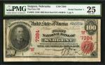1902年萨金特红色印章100元 PMG VF 25
