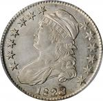 1823 Capped Bust Half Dollar. O-101a. Rarity-1. Patched 3. AU-50 (PCGS).