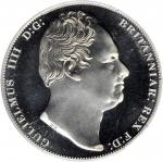 1836年(2008 年)壹圆银币。 威廉四世。 GREAT BRITAIN. Crown, Dated 1836 (2008). William IV. PCGS PROOF-68 Deep Cam