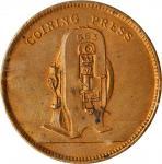 1903年英国伯明翰泰勒和查伦有限公司铸币机械黄铜广告代用币。GREAT BRITAIN. Birmingham. Taylor & Challen, Ltd. PCGS MS-63 Gold Shi