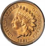 1861 Indian Cent. MS-66 (PCGS).