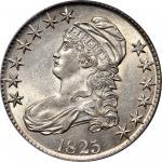 1825 Capped Bust Half Dollar. O-109. Rarity-5. AU-55 (PCGS).
