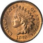 1870 Indian Cent. MS-66 RB (PCGS).