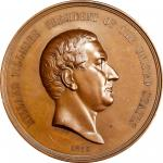 1850 Millard Fillmore Indian Peace Medal. Bronze. First Size. Julian IP-30, Prucha-48. MS-64 BN (NGC