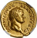 DOMITIAN AS CAESAR, A.D. 69-81. AV Aureus (7.33 gms), Rome Mint, struck under Vespasian, A.D. 76-77.