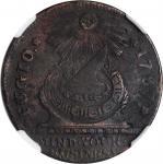 1787 Fugio Copper. Pointed Rays. Newman 9-P, W-6755. Rarity-4. STATES UNITED, 4 Cinquefoils. EF Deta