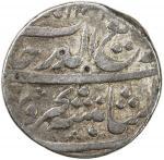 MUGHAL: Rafi-ud-Darjat, 1719, AR rupee 4010。71g41, Junagadh, AH1131 year one 40ahad41, KM-405。26, ra