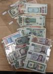 x A group of Asia and South American banknotes after 1960s, including Argentina (23), Bangladesh (7)