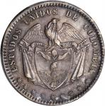 COLOMBIA. 1864 Peso. Bogotá mint. Restrepo 315.3. AU-55 (PCGS).
