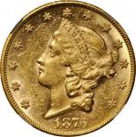 1876-CC Liberty Head Double Eagle. MS-61 (NGC).