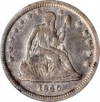 1840-O Liberty Seated Quarter. Drapery. Briggs 1-A, FS-501. Rarity-6. Large O. VF Details--Cleaning