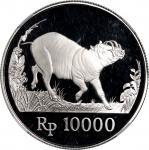 1987年印尼世界野生动物基金会25週年10000及20000盾纪念银币,「野猪」及「爪哇虎」,分别评NGC PF69 Ultra Cameo 及 PF68 Ultra Cameo