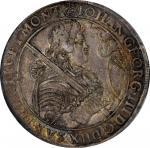 GERMANY. Saxony. Taler, 1686-CF. Dresden Mint. Johann Georg III. NGC AU-58.