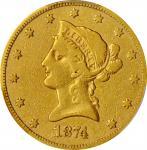 1874-CC Liberty Head Eagle. Fine-15 (PCGS).