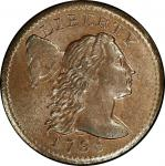 1795 Liberty Cap Cent. Sheldon-76b. Plain Edge. Rarity-1. Mint State-65 BN (PCGS).