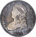 1824/2 Capped Bust Quarter. B-1, the only known dies. Rarity-3. VG-8 (ANACS). OH.