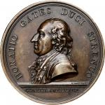 1777 Horatio Gates at Saratoga medal. Betts-557. Bronze. Original striking. Paris Mint. 55.5 mm, 115