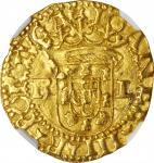 PORTUGAL. Cruzado (400 Reais), ND (1521-57). Lisbon Mint. Joao III. NGC MS-62.