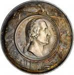 1861 (ca. 1859) Talem Ferent Nullum - Browns Equestrian Statue Medal. White Metal. 51 mm. Musante GW