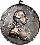 Undated (ca. 1776-1814) George III Indian Peace Medal. Large Size. Solid Silver. 78.2 mm. 1,356.5 gr