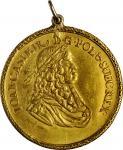 POLAND. Danzig. Medallic 4 Ducats, ND (ca. 1648). Danzig Mint, by: Johann Hohn. Johann Casimir. EXTR