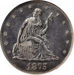 1875 Twenty-Cent Piece. BF-1. Proof-62 (PCGS).