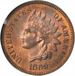 1869 Indian Cent. MS-65 RB (NGC).