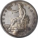 1874-CC Trade Dollar--Chopmark--AU Details--Graffiti (PCGS).