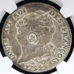GREAT BRITAIN George III ジョージ3世(1760~1820) Dollar ND(1797)  NGC-XF45 VF~EF