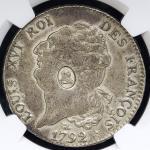 GREAT BRITAIN George III ジョージ3世(1760~1820) Dollar ND(1797)  NGC-XF45 VF~EF