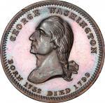 Circa 1855 Washington Monument at Baltimore medalet by Robert Lovett, Jr. Musante GW-195, Baker-323.
