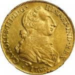 MEXICO. 8 Escudos, 1766-Mo MF. Mexico City Mint. Charles III. NGC AU-58.