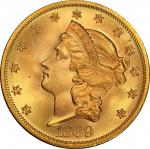 1869 Liberty Head Double Eagle. MS-66 (PCGS).