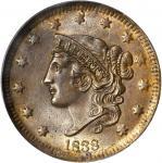 1838 Modified Matron Head Cent. MS-64 BN (PCGS). CAC.