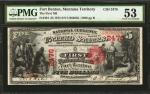 1875年蒙大拿州5元 PMG AU 53