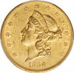 1856 Liberty Head Double Eagle. AU-55 (PCGS). CAC.