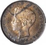 PUERTO RICO. Peso, 1895-PG V. Alfonso XIII. PCGS AU-55 Gold Shield.