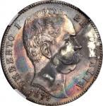ITALY. 5 Lire, 1879-R. Umberto I (1878-1900). NGC MS-63.