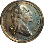 (ca. 1875) Fredericksburg Lodge Medal. Second Obverse. Brass. 29 mm. Musante GW-840, Baker-297B. MS-