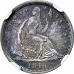 1840 Liberty Seated Half Dime. No Drapery. Proof-66 (NGC).